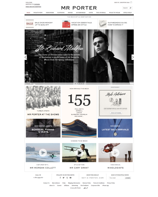 MR PORTER   The online retail destination for men s style